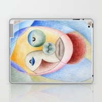 face with circles Laptop & iPad Skin by Josep Mestres