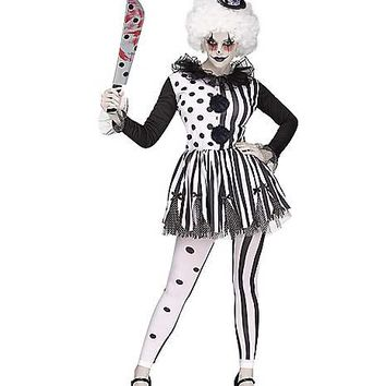 Adult Twisted Trickster Clown Costume - Spirithalloween.com
