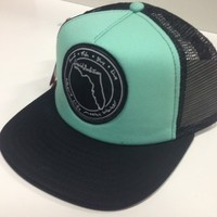 Teal Patch Trucker Hat