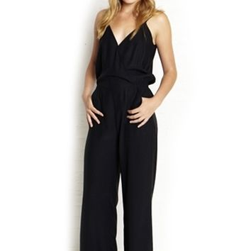 Parker V-Neck Silk Jumpsuit | ShopAmbience