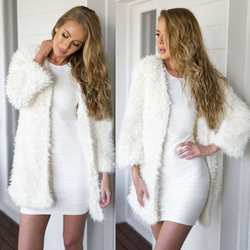 2015 Fashion Luxury Women's Slim Faux Fur Coat Outwear Jacket Overcoat Parka