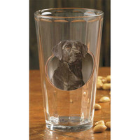 Wild Wings Black Lab Panel-Style Mixer Glasses