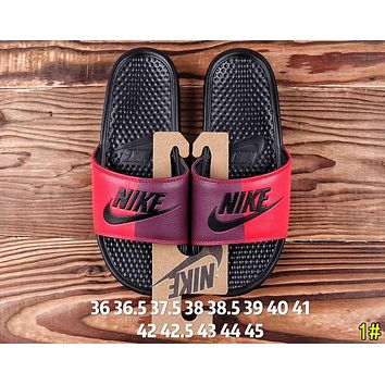 Nike Summer Newest Popular Woman Men Casual Color Matching Couple Sandals Slipper Shoes 1#