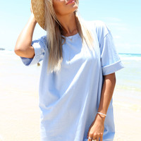 Blue Tee Dress | SABO SKIRT