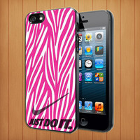 Nike just do it hot pink zebra skin IPhone 5,4,4S, Samsung Galaxy S2,Samsung Galaxy S3,Samsung Galaxy S4 -B17062013-4