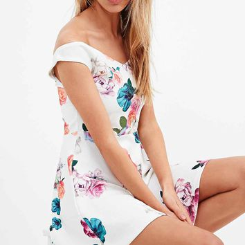 Minkpink Nature Floral Dress in White - Urban Outfitters