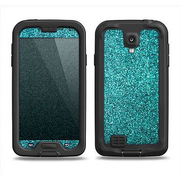 The Teal Glitter Ultra Metallic Samsung Galaxy S4 LifeProof Nuud Case Skin Set