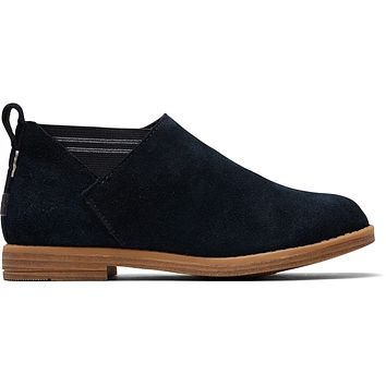 TOMS - Youth Leilani Black Suede Boots