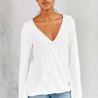 Silence + Noise Kindred Spirits Surplice Top