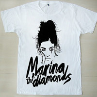 Marina Lambrini Diamandis Marina and the Diamonds The Family Jewels Electra Heart White Unisex T Shirt S to XXL