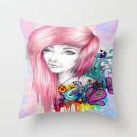 Leda Throw Pillow by Krista Rae | Society6