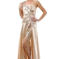 US Fairytailes One Shoulder Dress New Elegant Prom Long Gown #27015