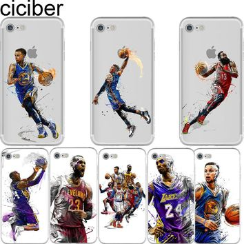 HOT SALE - NBA Basketball Soft Silicon Transparent Case
