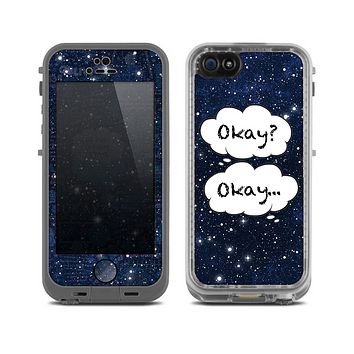 The Okay Speech Bubbles Over Starry Sky Skin for the Apple iPhone 5c LifeProof Case
