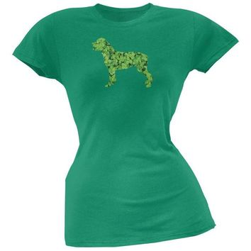 ONETOW St. Patricks Day - Rottweiler Shamrock Kelly Green Soft Juniors T-Shirt