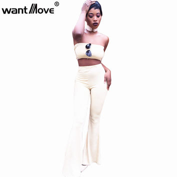 Wantmove 6 colors S-XL plus size streetwear jumpsuit sexy rompers womens two piece bodycon jumpsuit 2017 summer bodysuit XD625