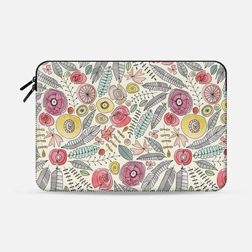 feather fleur watercolor macbook Macbook Air 13 sleeve by Sharon Turner | Casetify