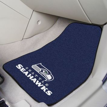 """NFL - Seattle Seahawks 2-pc Carpeted Car Mats 17""""x27"""""""