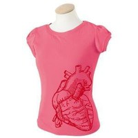 FREE SHIPPING Giant Heart Puff Sleeve Tshirt by Deadworry on Etsy