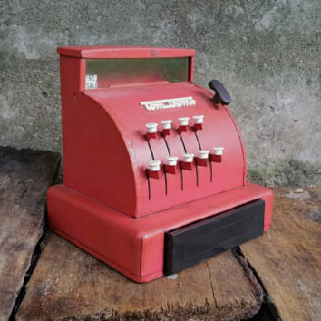 Vintage Red Tom Thumb Cash Register