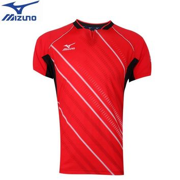 New arrival MIZUNO table tennis T shirt badminton tennis Jersey breathable tennis shirts sport Jersey for men  82CT7510
