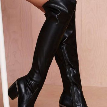 Jeffrey Campbell Halen Leather Knee-High Boot