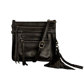 Stretta Small Leather Crossbody and Belt Hip Bag - Carbon Black