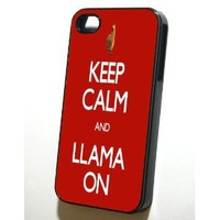 Keep Calm and Llama On Case for iPhone 4/4S - Black