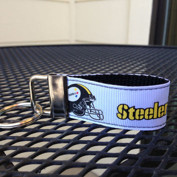 Pittsburgh Steelers Keychain Fob by SweetKeeps on Etsy