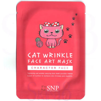 SNP Character Face Cat Wrinkle Face Art Mask