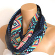 Paisley Print Infinity Scarf - Scarves- Blue Print Scarf- Loop Scarf- Cowl Scarf- Woman Scarf- Circle Scarf-  Accessories- Scarf