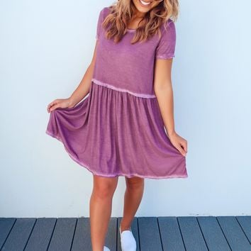 Halfway There Dress: Dusty Berry
