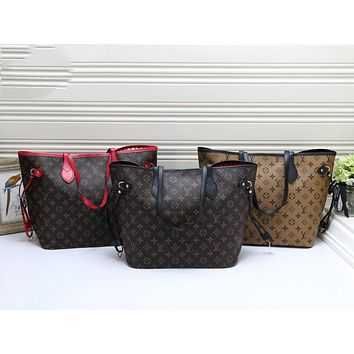 LV 2019 new women's large-capacity tote bag simple shoulder bag two-piece