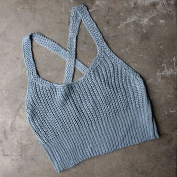 basic slouchy knit crop top - more colors