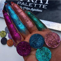 Makeup 4 Colors Glitterinjections Pressed glitter maquiagem Eyeshadow Diamond Pallete Makeup Palette Cosmetics By Beauty Glazed