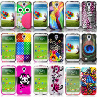 Colorful Design Hard Snap On Cover Case Samsung Galaxy S4 S IV i9500 w/Screen #2