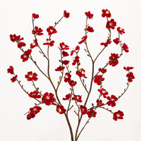 Red Velvet Plum Blossoms, Set of 2 - World Market