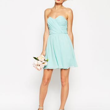 ASOS WEDDING Bandeau Mini Dress