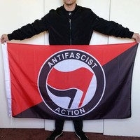 3x5 Red & Black Antifa Flag