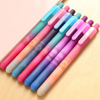 Creative Cute Star Plastic Gel Pen Lovely Kawaii Jelly Black Ink Pen For Kids Gift Korean Stationery 2409