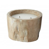 White Pepper Log Candle