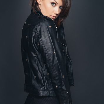 Star Studded Biker Babe Jacket