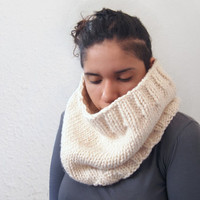 custom knit chunky cowl -- the condyle neckwarmer in fisherman