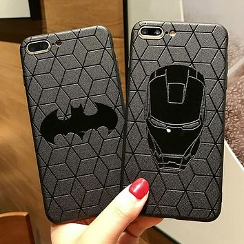 Marvel Avengers Ironman Batman Superman Phone Cases for iPhone XS Max XR X 10 7 8 6 6s Plus Soft Silicone Cover Spiderman coque