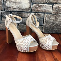 The Tracy Heel, Beige