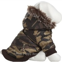 Fashion Parka W/ Removable Hood - Camo - Apparel - Coats and Jackets Posh Puppy Boutique