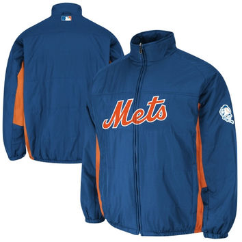 New York Mets Majestic 2014 On-Field Double Climate Full Zip Jacket – Royal Blue