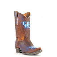 "Gameday Boots Womens 10"" Short Leather Kentucky Cowboy Boots"