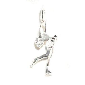 Sterling Silver Ice Skater Dancer Charm Pendants