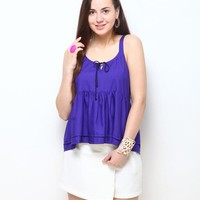 Glecia Solid Top - Violet Online Shopping | 64755